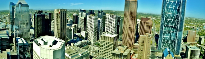 A view of downtown Calgary from Calgary Tower