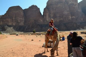 Getting the hang of riding a camel1
