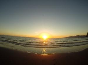 Sunset on wreck beach