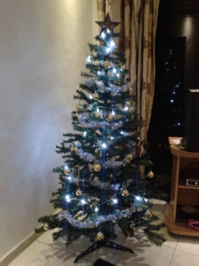 Our beautiful (faux) fir tree