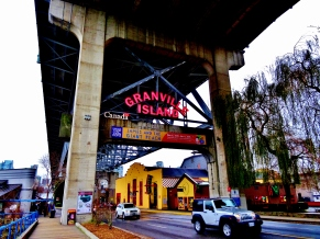 The unnassuming entrance to Granville Island
