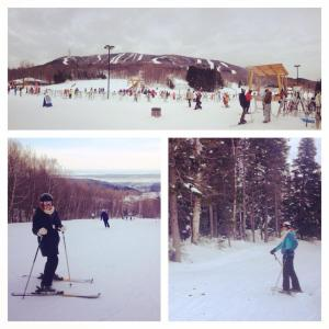 Skiing at Mont St. Anne