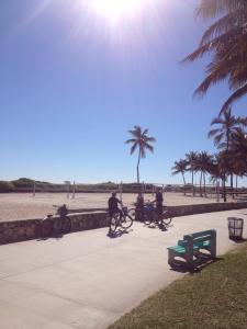 Cycling along South Beach, Miami