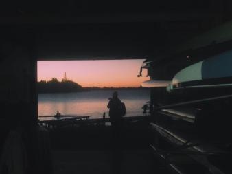 Boat house sunrises making 6am wakeups worth it.