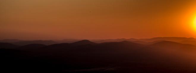 Sunrise on top of Mount Bruce
