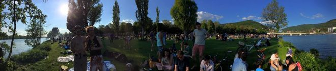 Panorama of Picnic on the Neckar