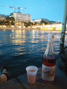 That one evening we joined the Parisians for wine by the Seine.