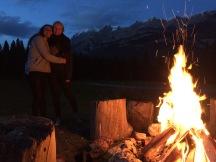 Bonfire and hugs