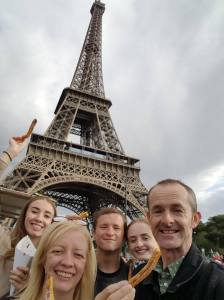 fam at eiffel tower