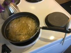 Couldn't find a saucepan - student living