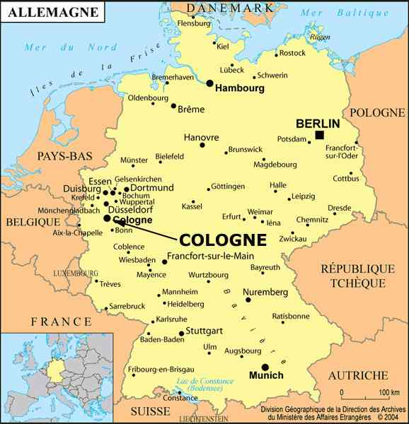 Map Cologne Germany 0 Durham Students Abroad