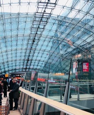 Frankfurt Station was pretty but there was a train strike...