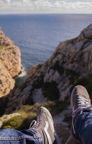 Cheeky foot photo in Malta (Blue Grotto)