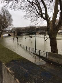 The flooding Seine