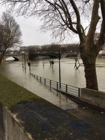 The flooding Seine